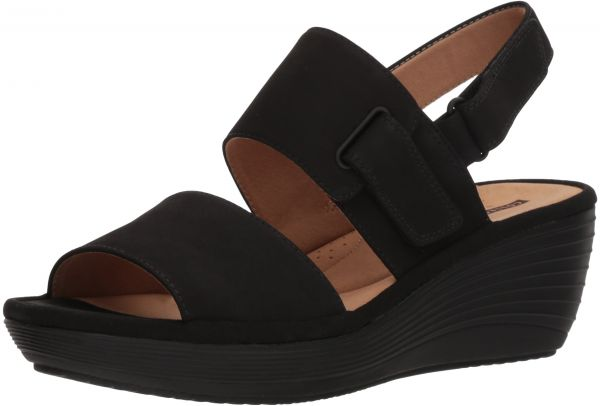 244f4ed65a02f CLARKS Women s Reedly Breen Wedge Sandal