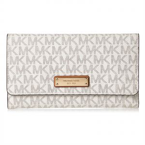 21ac52f125afc Michael Kors Flap Wallet For Women - Off White