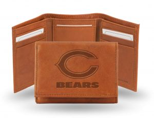 Rico NFL Chicago Bears Embossed Genuine Leather Trifold Wallet  supplier