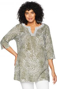 386c6c3145f Foxcroft Women s Plus Size Toni Safari Wrinkle Free Tunic
