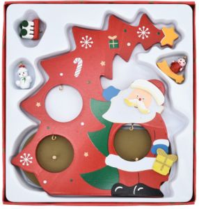 Christmas Crafts Santa Claus Wooden Corridor Window S Christmas Children S Gifts Red