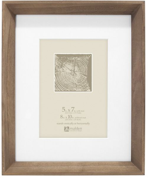 Malden International Designs Wood Angle Morgan Wash Matted Picture ...