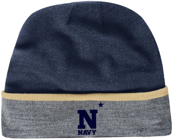 1efe1203d28 Under Armour NCAA Navy Sideline Cold Gear Infrared Cuff Beanie