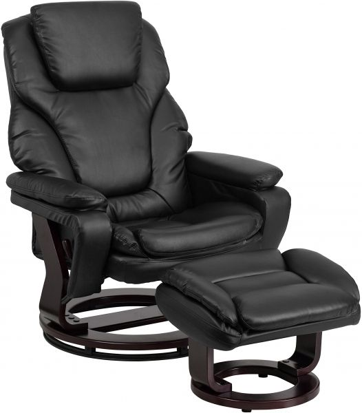flash furniture contemporary black leather recliner and ottoman with rh uae souq com black leather recliner ashley furniture black leather recliner with ottoman