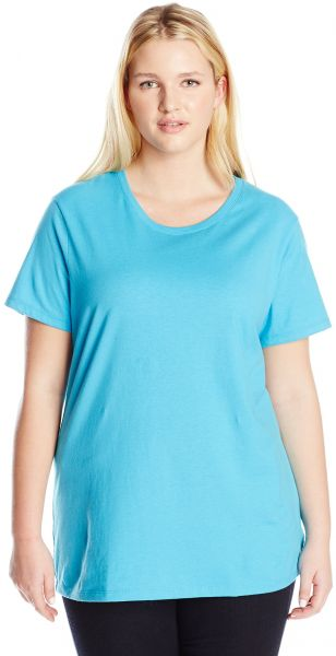 998635358a5e9 Just My Size Women s Plus-Size Short Sleeve Crew Neck Tee