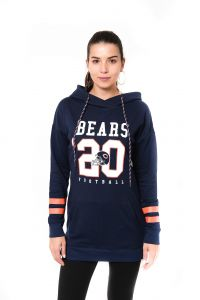 fbe716890f6bef Icer Brands NFL Chicago Bears Women s Tunic Hoodie Pullover Sweatshirt  Terry