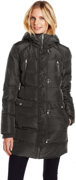 8ad1bea778c Jessica Simpson Women s Down Parka Front Pockets with Hood and Knit ...