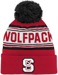 6cdc9791839 Outerstuff NCAA North Carolina State Wolfpack Children Boys Cuffed Knit  with Pom Hat