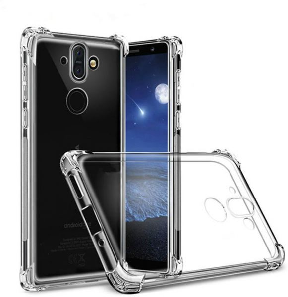 Nokia 8 Sirocco Case, Clear Airbag Anti-Crack cover