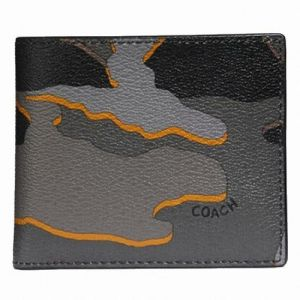 70955e28715f Coach Double Billfold Wallet With Camo Print F32614