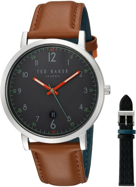 cb14585f8 Ted Baker Men s  David GiIFT Set  Quartz Stainless Steel and Leather Casual  WatchMulti Color (Model  TE15194001)