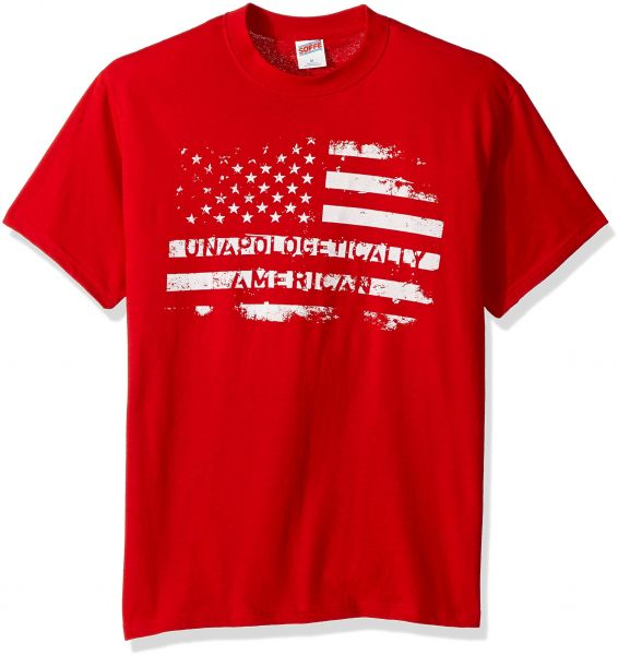 c33ffbc2 Soffe Men's American Flag Graphic T-Shirt Americana Collection,  Unapologetically American, Extra Large | KSA | Souq