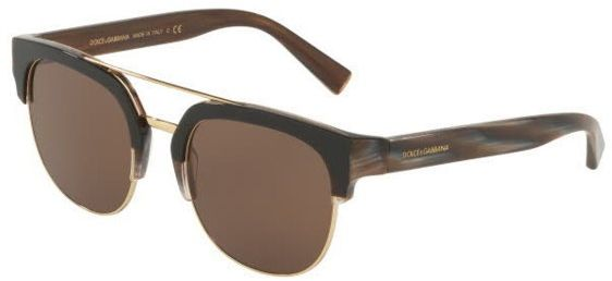 fe300b82ba69 Dolce & Gabbana Half Frame Sunglasses For Men - Brown, 4317, 53, 3158, 73