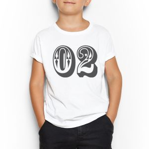 545ae9394d Number 02 White Round Neck T-Shirt For Kids 15 - 16 Years