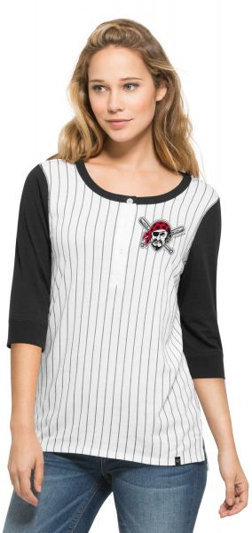 Mlb Pittsburgh Pirates Women S 47 Team Triple Crown Henley Long