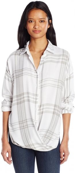 a896afe9326070 Silver Jeans Women s Longsleeve Twisted Front Blouse