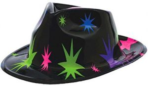 Amscan Disco Fever 70 s Party Starburst Fedora Hat Accessory 8667b7196620