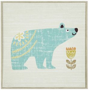 b9e8408453f INK+IVY Kids Woodland Bear   Squirrel Framed Canvas Wall Art 12X12 2 Piece  Multi Panel