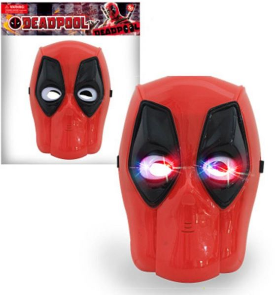 Deadpool Mask Kids Toys Costume Role Play Lights Action Movie Gift Red Plastic Adult Light Up Toy Halloween Party