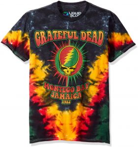 a3c6725d863 Liquid Blue Men's Plus Size Grateful Dead Montego Bay Tie Dye Short Sleeve T -Shirt, Tie Dye/Multi, 3XL