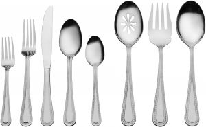 International Silver 5174730 Carleigh 67-Piece Stainless Steel Flatware Set with Serving Utensil Set Service for 12