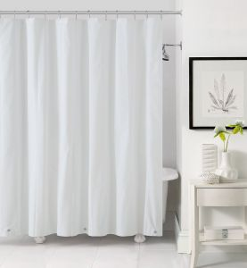Victoria Classics PV0 LIN 7272 EL WH Peva Shower Liner 72 10 Gauge With Magnets And Grommets White