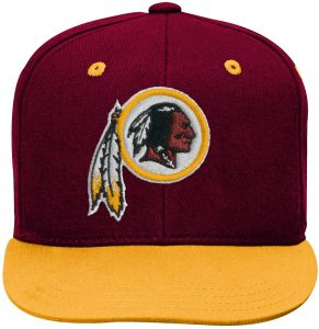 535321031cf NFL by Outerstuff NFL Washington Redskins Kids 2-Tone Flat Visor Snapback  Hat Burgundy