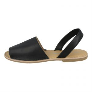 5b03e93681f Kidderminster Leather collection Flat Sandals for Women - Black