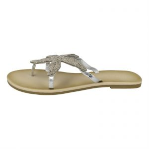 d10a00ff2cc9cc Kidderminster Savannah Flat Sandals for Women - Silver