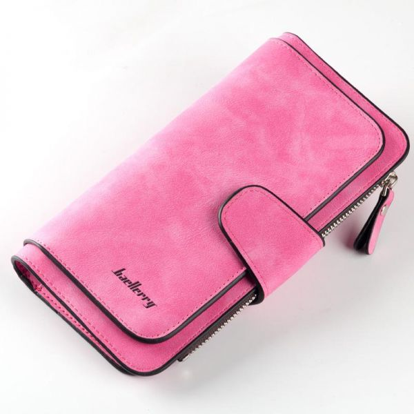 Baellerry Brand Leather Wallet Women Scrub Leather Lady Purses High Quality Ladies Clutch Wallet Long Female Wallet Carteira