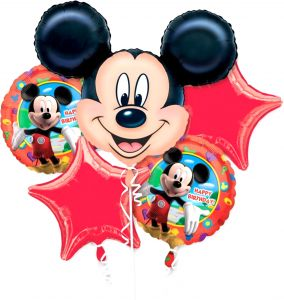 Tamona MICKEY MOUSE THEME FOIL BALLOON BOUQUET SET OF 5 BIRTHDAY PARTY DECORATION SUPPLIES ACCESSORIES