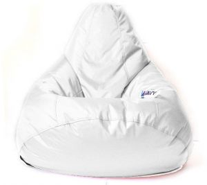 Groovy Wavy Leather Beanbag Chair White Tl004 Lamtechconsult Wood Chair Design Ideas Lamtechconsultcom