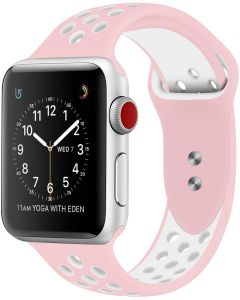 outlet online crazy price aliexpress RDX Compatible Sport Band Apple Watch 42mm 44mm Silicone Strap Replacement  Wristband iWatch Series 4/3/2/1 Nike- S/M - (Pink/White)