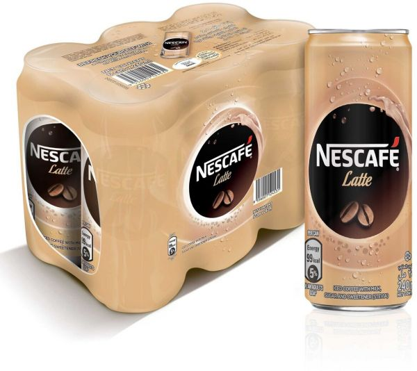Nescafe Ready To Drink Latte Chilled Coffee, 240ml Pack Of