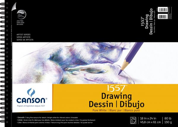 souq canson artist series 1557 pure white drawing paper pad fine