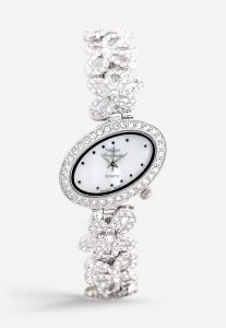 eedd1b2a8b7 Mon Grandeur Womens Analog Watch Metal Strap with White Stone and Silver  Color Dial Shape Oval and color Silver GR-IN71202-Silver