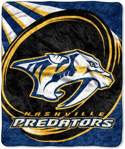 The Northwest Company Officially Licensed NHL Nashville Predators Puck  Sherpa on Sherpa Throw Blanket 34762fcbc