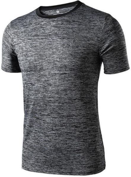 0144da140a5 Sports t-shirt male V-neck short-sleeved moisture wicking quick-drying  loose sportswear breathable sports T Shirts