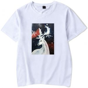 6da858ccfdfc2 Stylish simple cotton Christmas T-shirt for young men and women ,short  sleeve round neck casual T-shirt,white