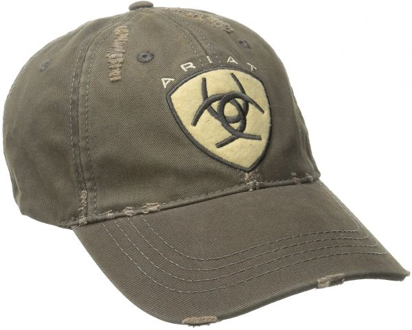 superior quality db45d ebe1c ... greece ariat mens distressed hat brown one size 2acfc 57b8b
