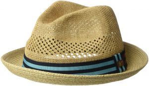 0f1ade71d2409 Bailey of Hollywood Men s Berle Fedora Trilby Hat with Striped Band
