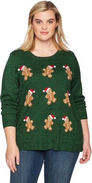 f8e07db15124 Notations Women s Plus Size Ugly Christmas Sweater