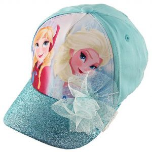 19bfb44a543 Disney Frozen Elsa and Anna Cotton Baseball Cap with Glitter Pom