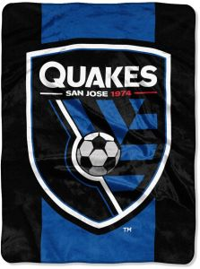 super popular 58049 f61c3 The Northwest Company MLS San Jose Earthquakes Goal Keeper Oversized  Raschel Throw Blanket, Blue, One Size