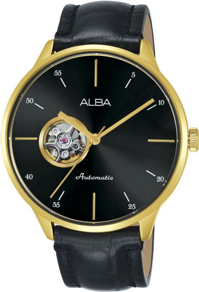 0c113b964 Alba Automatic Flagship Leather Casual Watch For Men AU7020X - Black