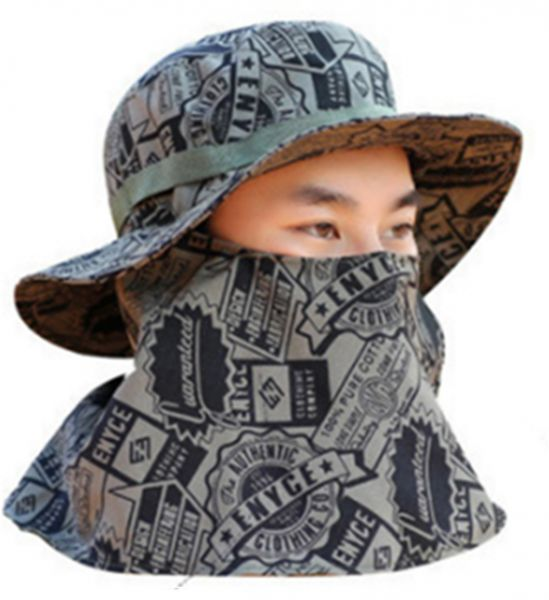 Camouflage Outdoor Sport Hiking Visor Hat UV Protection Face Neck Cover  Fishing Sun Protect Cap  c68e2c64f51d
