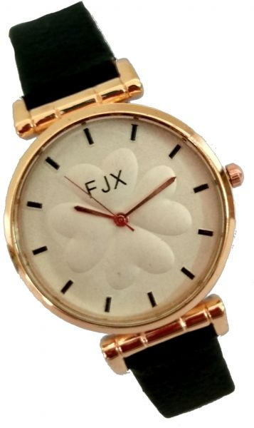 FJX Casual Watch For Women Analog PU Leather - wros