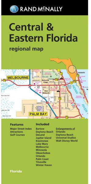 Rand Mcnally Folded Map Central Eastern Florida Regional Map