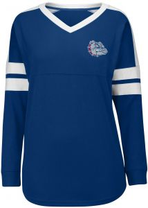 Nitro USA NCAA Gonzaga Bulldogs Womens Collegiate Lace Up Tunic Top Large Navy