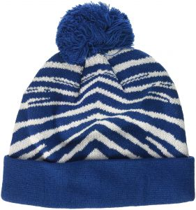d30e56e2602 Zubaz Men s Knit Winter Stocking Beanie Pom Hat
